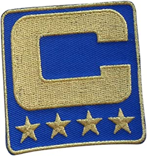 Royal Blue All Gold Captain C Patch Iron On for Football Jersey (Buffalo)