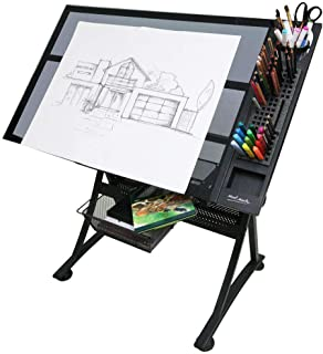 Mont Marte Creative Art/Craft Station Table - Glass Top