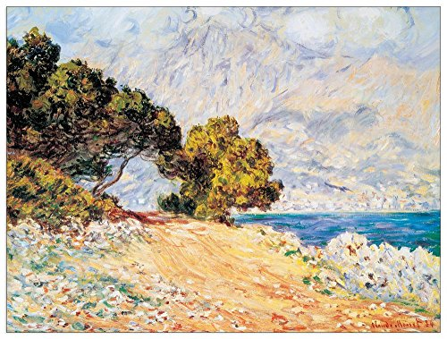 ArtPlaza Cap Martin-(Monet) Decoratief Paneel, Hout, Meerkleurig, 80 x 1,8 x 60 cm