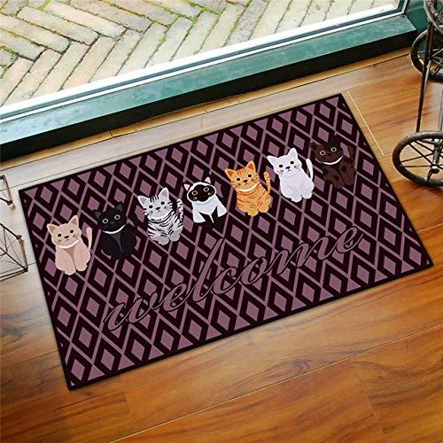 KEAINIDENI toiletmat 3D bedrukte badkamer mat tapijt kit anti-slip bad matten vloer tapijt huisdier pad grote grootte deur vloer stoel matras voor Decor deurmatten about 50x80cm 1 Xiaoheimao