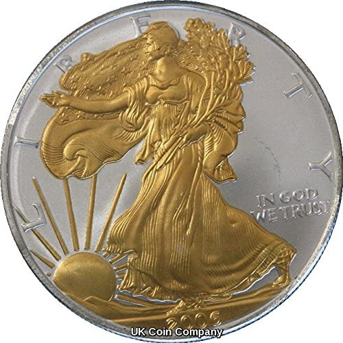 2006 American 1oz Fine Silber Gold Liberty Eagle Coin