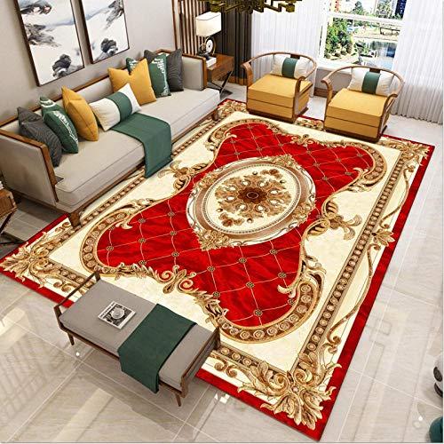 tappeto Pelo Corto Design Soggiorno Interni - Il tappeto del tavolino è squisito, classico, intagliato, classico, etnico, country, di qualità, antiscivolo e spesso-140x200 cm