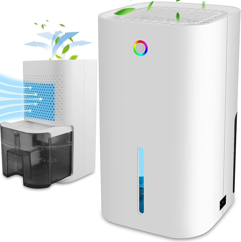 Dehumidifiers for Home Small Quiet Dehumidifier 30oz Max 59% OFF Porta Genuine 850ml
