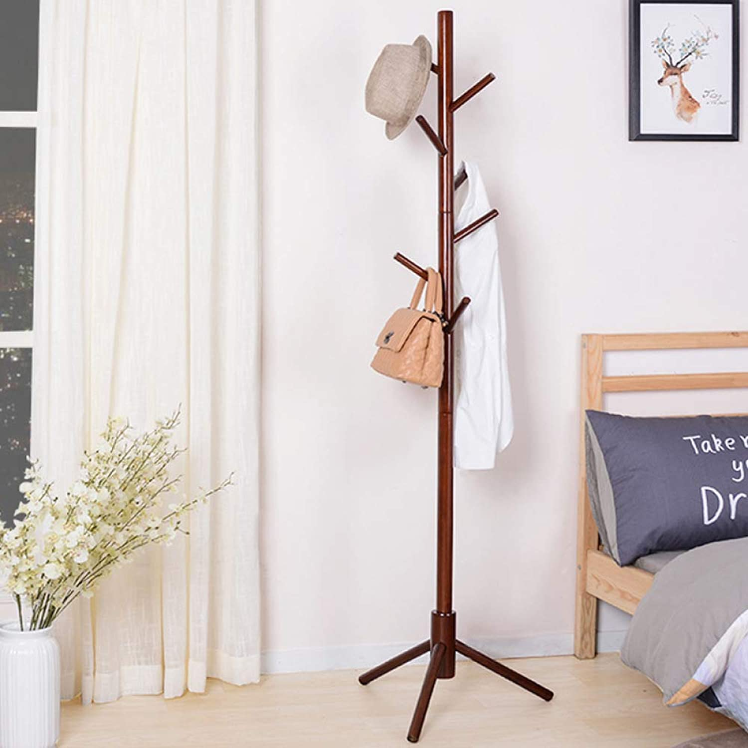 Dixinla Coat Stand,Modern Simple Solid Wood Coat Rack Falling Creative Living Room Bedroom Hanger Decorative Furniture (Combination Inssizetion)