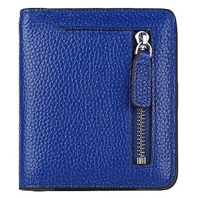 GDTK RFID Blocking Wallet Women's Small Compact Bi-fold Leather Purse Pocket Wallet