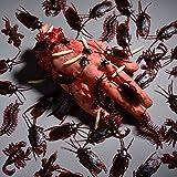 156 Stücke Plastik Realistische Wanzen, gefälschte Kakerlaken, Spinnen, Würmer und Fliegen für Halloween Party und Dekoration - 5