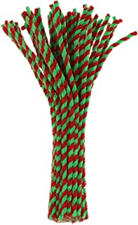 Generic 50pcs Two- tone Glitter Pipe Cleaner Craft Set, Sparkle Chenille Stem Furry Wire Twisted Stems Pipe for Art and Cr...