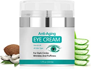 Eye Cream, Under Eye Cream to Reduce Puffiness and Dark Circles, Anti Aging Eye Cream Reduce Fine Lines and Wrinkles, 1.7 Ounces…