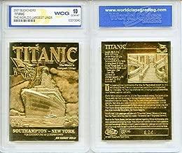 1912 TITANIC Largest Liner 23KT Gold Card Sculptured - Graded GEM MINT 10
