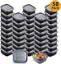 ظروف آماده سازی مواد غذایی ظروف نگهدارنده مواد غذایی با سرپوش - قابل جمع شدن ، قابل استفاده مجدد ، مایکروویو ، ماشین ظرفشویی و فریزر ایمن - 8.5 اونس ، 50 بسته