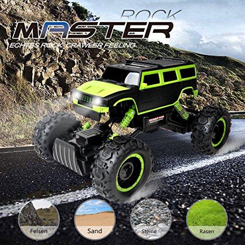 RC Auto kaufen Monstertruck Bild 3: Maximum RC Ferngesteuertes Auto für Kinder - 4WD Monstertruck - XL RC Auto für Kinder ab 8 Jahren - Rock Crawler (grün)*