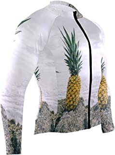 Pineapple Fruit Mens Cycling Jersey Top Long Sleeve Outdoor Cycle Apparel Outfit