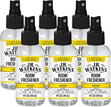 JR Watkins Room Air Freshener Spray, Lemon, 6 Pack, Natural Freshener for Home, Office, or Car, USA Made and Cruelty Free,...
