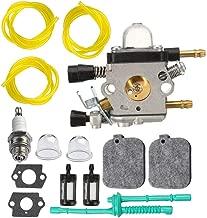 C1Q-S68 Carburetor for Zama C1Q-S68 C1Q-S68G Stihl BG45 BG55 BG65 BG85 SH55 SH85 Leaf Blower Carb with 3 Size 3-Feet-Long Fuel Line Hose Tube Air Filter Kit