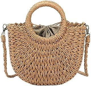 Straw Crossbody Bag Shoulder Bag Woven Retro Straw Tote Bag Shopper Chic Handbag