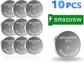 【5-Year Warranty】 CELEWELL 370 371 1.55V Button Cell Contains 20% of Silver Oxide SR920SW Watch Battery Pack of 10 Batteries