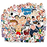100pcs Pack Family Guy Laptop Stickers, Water Bottle Travel Case Computer Wall Skateboard Motorcycle Phone Bicycle Luggage Guitar Bike Stickers Decal