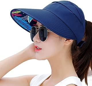 Sun Hats for Women Wide Brim UV Protection Summer Beach Packable Visor