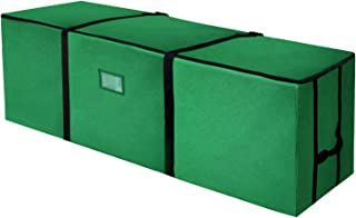 Veperain Christmas Tree Storage Bag,Durable Quality Canvas Storage Container, Large for 9ft Artificial Tree with a Card Pocket-Green