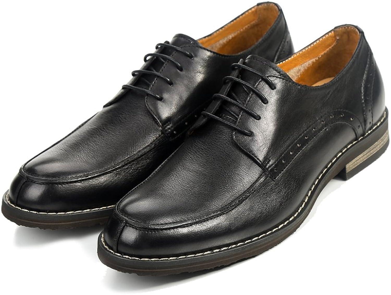 MERRYHE Brogue Derby Schuhe Für Mnner Echtes Leder Business Formale Kleid Schnürschuh Mnnlichen Party Hochzeit Büroarbeit