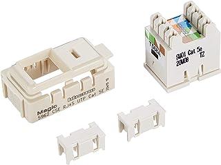 Bticino 5962C5E Series Magic RJ45 Socket, 110IDC, UTP, Cat5E, Ivory