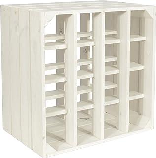CHICCIE Wijnrek Wino van hout - wit rek houten kist