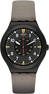 Swatch Irony Big Classic st. Steel Quartz bimaterial Strap, Brown, 19 Casual Watch (Model: YWB406)