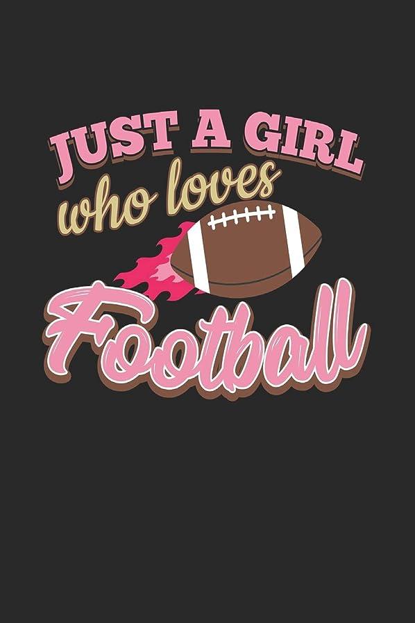 患者ネーピア不足Just A Girl Who Loves Football: Blank Lined Notebook Journal For Kids