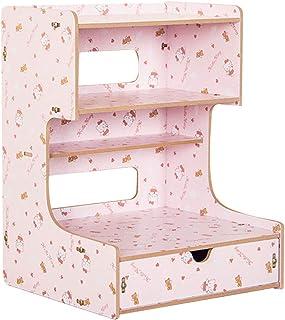 Estantería de escritorio de madera para oficina, caja de almacenamiento de escritorio Organizador de tableros de madera de bricolaje Almacenamiento Revistero en rack Titular de CD ( color : Pink )