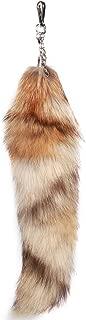 URSFUR Red Swift Fox Tails Fur Bag Charm Pendant