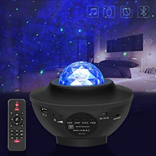 Lámpara proyector de estrellas, luz nocturna para niños con 21 modos, lámpara musical romántica cielo estrellado, con mando a distancia, temporizador, altavoz, Bluetooth, regalo para adultos y niños