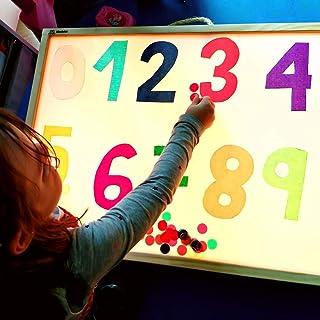 R-Crea Tavolo luminoso Montessori con certificato di qualità rilasciato dall'Università di Murcia. Reggio Emilia