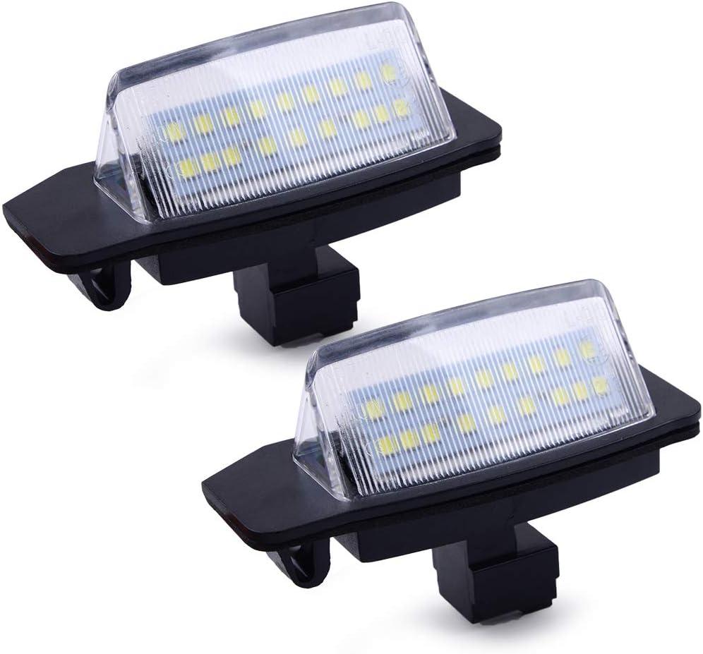 beler 18-LED Number License San Francisco Mall Plate Light Assy Bargain sale Rear fit Bulb Lamps