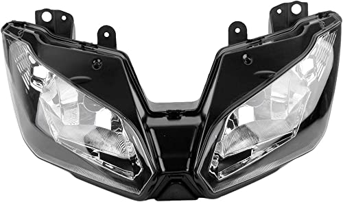 2021 Mallofusa Motorcycle Front Headlight Headlamp Assembly Compatible for Kawasaki Ninja 300 discount 2013-2018 Versys 650 1000 sale 2015 2016 2017 2018 outlet online sale