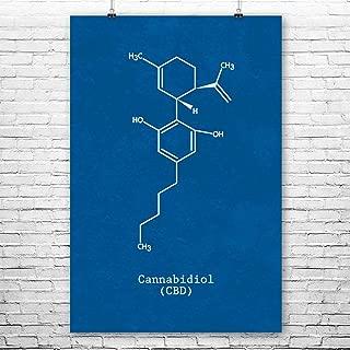 Patent Earth CBD Molecule Poster Print, Cannabidiol, Cbd Art, Cannabis Gift, Cbd Wall Art, Marijuana Decor, Head Shop Art Blueprint (8