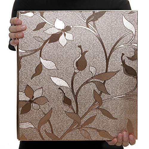 Xerhnan Leather Cover Photo Album 600 Pockets Hold 4x6 Photos(Champagne Gold)