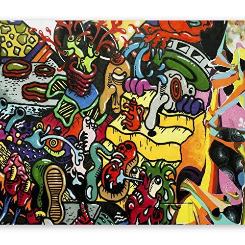 murando - 250x175 cm XXL-Wandbild auf Vliesleinwand! Riesenposter Wanddekoration - Fototapete - Tapete - Bild - Bilder - Mural Art Graffiti Streetart f-B-0111-a-a