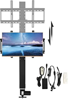 Happybuy Motorized TV Lift for Large Screen 26 Inches to 57 Inches TV Lift Mount Bracket with Remote Controller Height Adjustable up to 28 Inches(700MM) for Cabinet