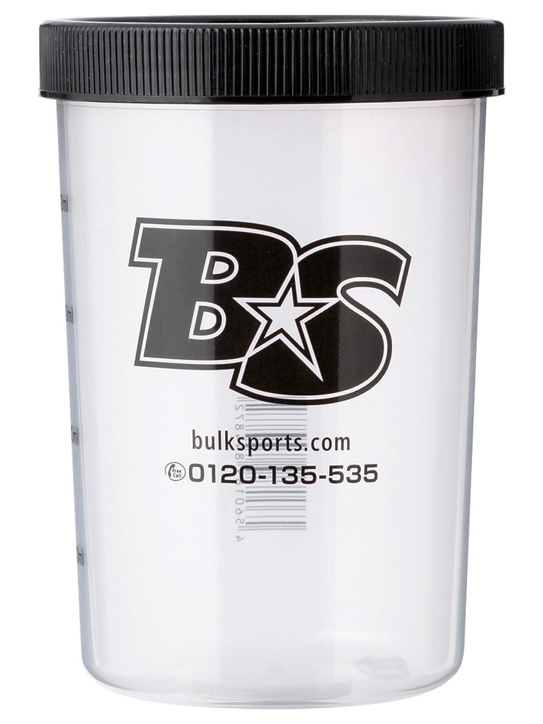 私のヘルメットに変わるバルクスポーツ プロテインシェイカー BS STAR ロゴ入りシェイカーカップ(500ml)