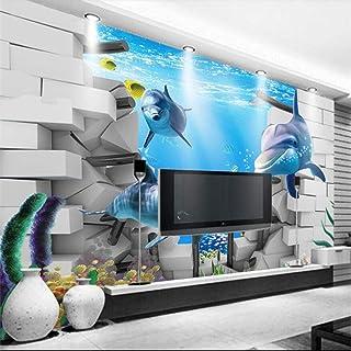 Pwmunf Hd Underwater World 3D Wall Custom Large Mural Green Wallpaper Papel De Parede para Quarto 400X280Cm