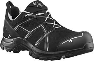 Haix Black Eagle Safety 41 Low Black/Silver Light S1P-Safety Shoe with Good Protection Function Black, Silver