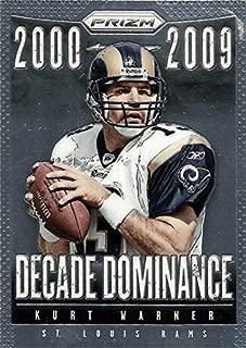 Kurt Warner football card (St Louis Rams, Super Bowl MVP) 2013 Panini Prizm Decade Dominance #22