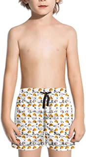 Siamese cat Having Fun Boys Girls Swimming Trunks Beach Board Shorts Ruched Quick Dry Vintage Summer Kid's Short Pants