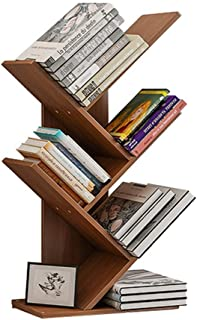 XJJUN Sling Bookshelf 3/4Shelf Bookcase Rack, Free Standing Book Storage Organizer, Books/CDs/Albums/Files Holder In Livin...
