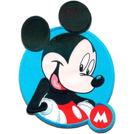 Mickey Mouse XL 'Micky M' Disney - Parches termoadhesivos bordados aplique para ropa, tamaño: 20 x 18 cm