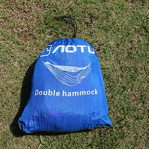 Timetided Ventas Kits de Viaje Promoción Hamaca Mosquitera Hamaca Doble Costura Color Ligero Colchoneta Militar para Acampar Azul Zafiro y Verde Oscuro