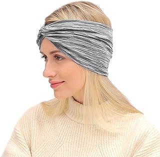 Workout Headband for Women Men - Non slip Sweatband - Stretchy Soft Hair Head Band Set - Sports Fitness Exercise Tennis Ru...