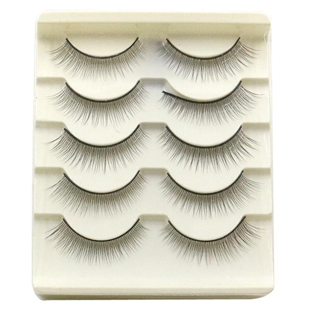 眠っている道売上高Feteso 5ペア つけまつげ 上まつげ Eyelashes アイラッシュ ビューティー まつげエクステ レディース 化粧ツール アイメイクアップ 人気 ナチュラル ふんわり 装着簡単 綺麗 極薄