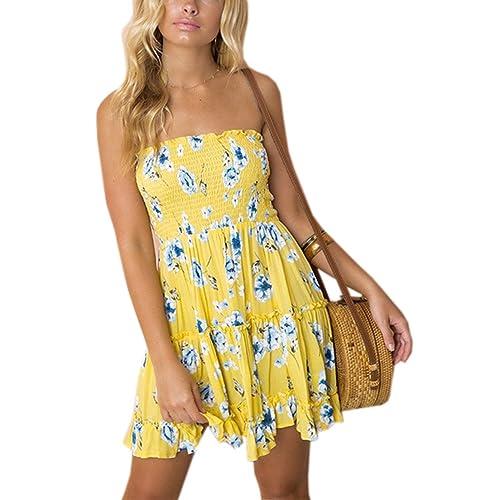 Yellow Tube Dresses: Amazon.com
