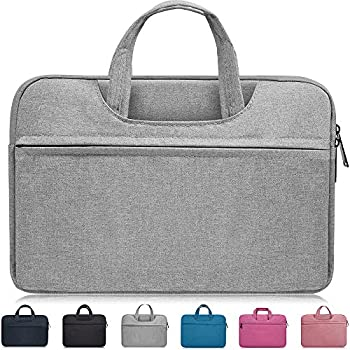 13-13.3 Inch Waterproof Laptop Sleeve Case Compatible Acer Chromebook R 13,12.5  ASUS Chromebook Flip C302CA,ASUS ZenBook 13,Dell XPS 13/Inspiron 13,HP Stream 13.3 ,LG ASUS Samsung Notebook Bag,Gray